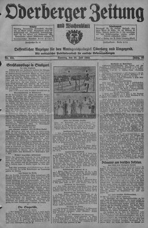 Oderberger Zeitung und Wochenblatt vom 30.07.1933