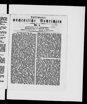 Züllichauer wöchentliche Nachrichten vom 19.01.1834