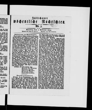 Züllichauer wöchentliche Nachrichten vom 02.02.1834