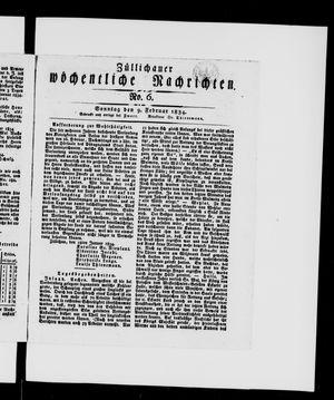 Züllichauer wöchentliche Nachrichten vom 09.02.1834