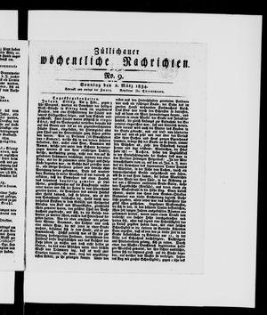Züllichauer wöchentliche Nachrichten vom 02.03.1834