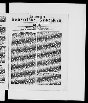 Züllichauer wöchentliche Nachrichten vom 16.03.1834