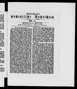Züllichauer wöchentliche Nachrichten vom 23.03.1834