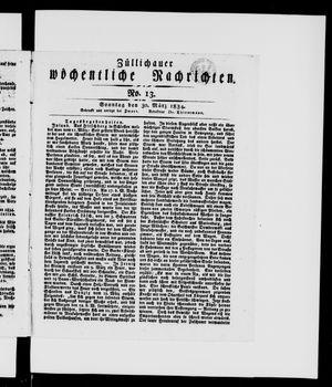Züllichauer wöchentliche Nachrichten vom 30.03.1834