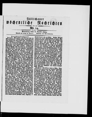Züllichauer wöchentliche Nachrichten vom 06.04.1834