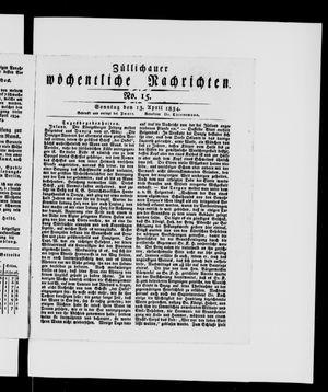 Züllichauer wöchentliche Nachrichten vom 13.04.1834