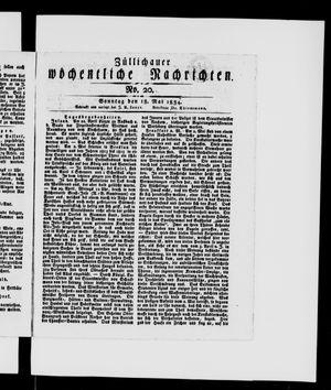 Züllichauer wöchentliche Nachrichten vom 18.05.1834