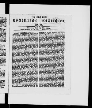 Züllichauer wöchentliche Nachrichten vom 25.05.1834