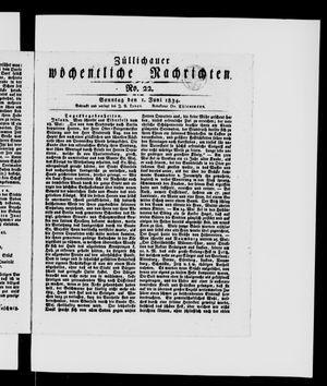 Züllichauer wöchentliche Nachrichten vom 01.06.1834