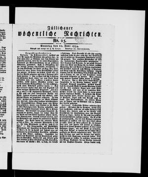 Züllichauer wöchentliche Nachrichten vom 22.06.1834