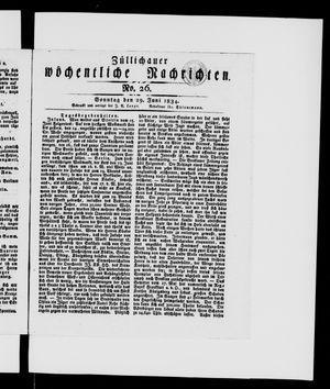 Züllichauer wöchentliche Nachrichten vom 29.06.1834