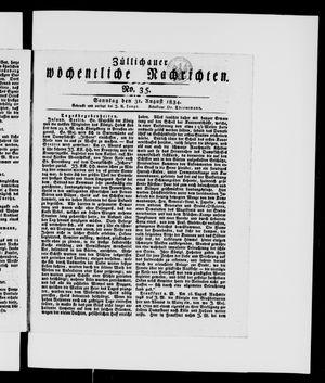 Züllichauer wöchentliche Nachrichten vom 31.08.1834