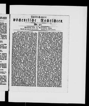 Züllichauer wöchentliche Nachrichten vom 14.09.1834