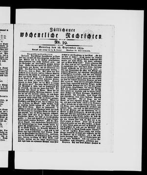 Züllichauer wöchentliche Nachrichten on Sep 28, 1834