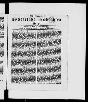 Züllichauer wöchentliche Nachrichten vom 19.10.1834