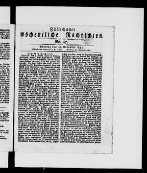 Züllichauer wöchentliche Nachrichten vom 23.11.1834