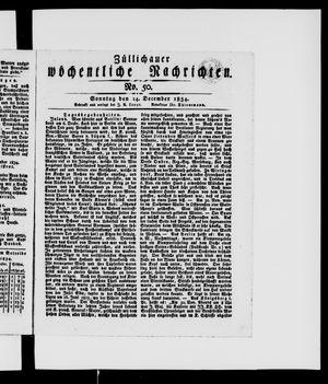 Züllichauer wöchentliche Nachrichten on Dec 14, 1834