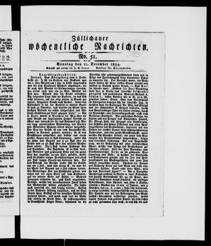 Züllichauer wöchentliche Nachrichten vom 21.12.1834