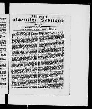 Züllichauer wöchentliche Nachrichten vom 28.12.1834