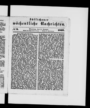 Züllichauer wöchentliche Nachrichten vom 08.01.1837