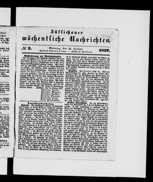 Züllichauer wöchentliche Nachrichten vom 15.01.1837