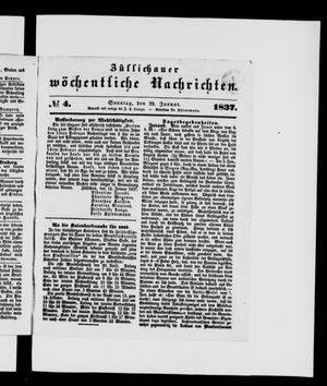 Züllichauer wöchentliche Nachrichten vom 22.01.1837