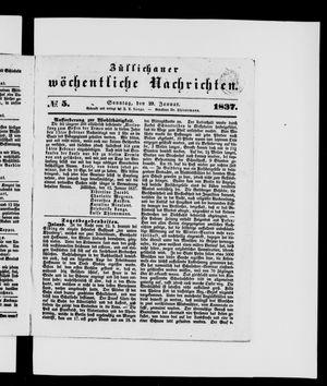 Züllichauer wöchentliche Nachrichten vom 29.01.1837