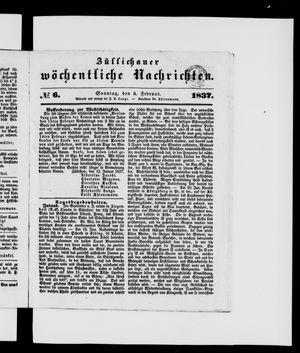 Züllichauer wöchentliche Nachrichten vom 05.02.1837