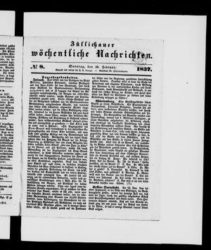 Züllichauer wöchentliche Nachrichten vom 19.02.1837