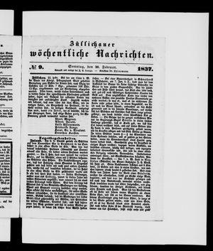 Züllichauer wöchentliche Nachrichten vom 26.02.1837