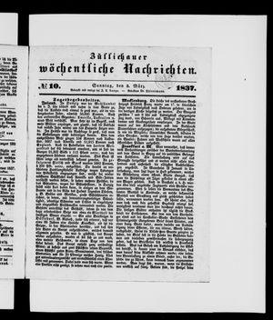 Züllichauer wöchentliche Nachrichten vom 05.03.1837