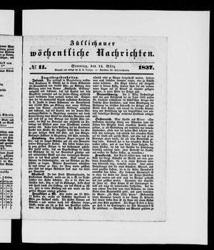 Züllichauer wöchentliche Nachrichten vom 12.03.1837