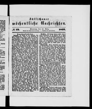Züllichauer wöchentliche Nachrichten vom 19.03.1837