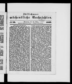 Züllichauer wöchentliche Nachrichten vom 26.03.1837