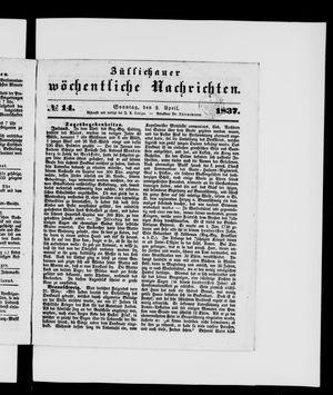 Züllichauer wöchentliche Nachrichten on Apr 2, 1837