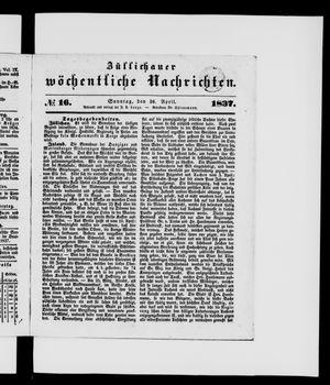 Züllichauer wöchentliche Nachrichten vom 16.04.1837