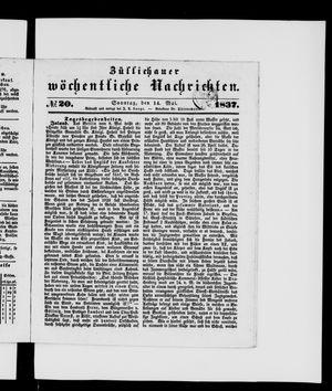 Züllichauer wöchentliche Nachrichten vom 14.05.1837
