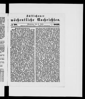 Züllichauer wöchentliche Nachrichten vom 09.07.1837