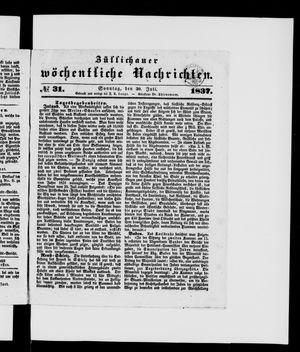 Züllichauer wöchentliche Nachrichten vom 30.07.1837