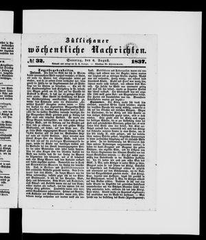 Züllichauer wöchentliche Nachrichten vom 06.08.1837