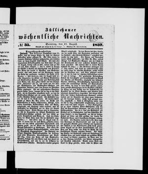 Züllichauer wöchentliche Nachrichten vom 27.08.1837