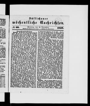 Züllichauer wöchentliche Nachrichten vom 12.11.1837