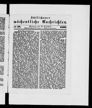 Züllichauer wöchentliche Nachrichten vom 26.11.1837