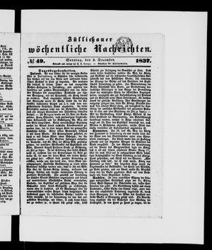 Züllichauer wöchentliche Nachrichten vom 03.12.1837