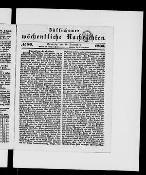 Züllichauer wöchentliche Nachrichten vom 10.12.1837