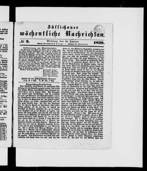 Züllichauer wöchentliche Nachrichten vom 13.01.1839