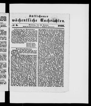 Züllichauer wöchentliche Nachrichten vom 20.01.1839