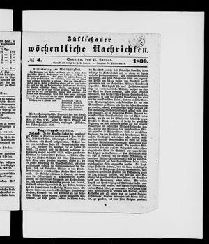 Züllichauer wöchentliche Nachrichten vom 27.01.1839