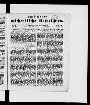 Züllichauer wöchentliche Nachrichten vom 10.02.1839