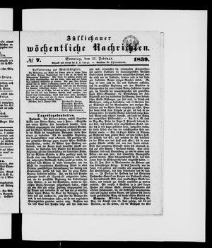 Züllichauer wöchentliche Nachrichten vom 17.02.1839